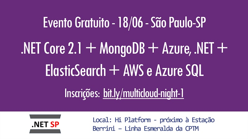Multicloud Night 1ª edição – .NET SP + Databases SP